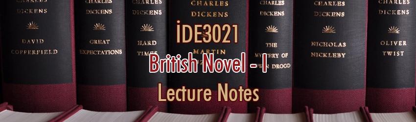 İDE3021 – İngiliz Romanı – I Ders Notları